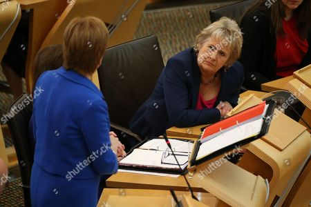 Scottish Parliament First Minister's Questions - Nicola Sturgeon, First Minister of Scotland and Leader of the Scottish National Party (SNP), and Roseanna Cunningham, Cabinet Secretary for Environment, Climate Change and Land Reform