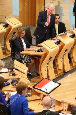 Scottish Parliament First Minister's Questions - Rachael Hamilton, Jackson Carlaw, Interim Leader of the Scottish Conservative and Unionist Party, Maurice Golden, and Nicola Sturgeon, First Minister of Scotland and Leader of the Scottish National Party (SNP)