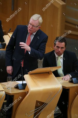 Scottish Parliament First Minister's Questions - Liam Kerr and Jackson Carlaw, Interim Leader of the Scottish Conservative and Unionist Party, and Maurice Golden