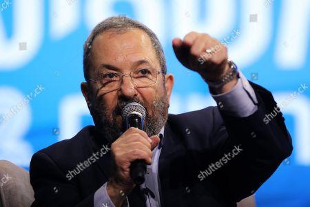 Editorial photo of Ehud Barak speaks at the News Channel 12 Conference in Tel Aviv, Israel - 05 Sep 2019