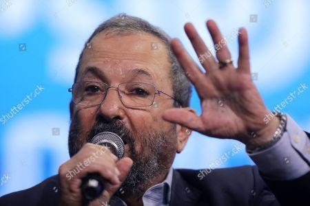Editorial image of Ehud Barak speaks at the News Channel 12 Conference in Tel Aviv, Israel - 05 Sep 2019