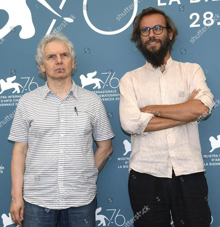 Andrea Segre (R) and Italian co-writer Gianfranco Bettin pose at a photocall for 'Il Pianeta in Mare' during the 76th annual Venice International Film Festival, in Venice, Italy, 05 September 2019. The movie is presented out of competition at the festival running from 28 August to 07 September.