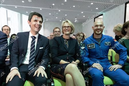 (L-R) Director of the Futurium Stefan Brandt, Minister of Education and Research Anja Karliczek and Astronaut Alexander Gerst attend the opening ceremony of the Futurium museum in Berlin, Germany, 05 September 2019. The Futurium is a project initiative of scientific institutions and networks of several business enterprises and foundations as well as the German Federal Government. At the same time, it is the name of a museum in Berlin, which serves as a place for presentation and dialogue on science, research and development.