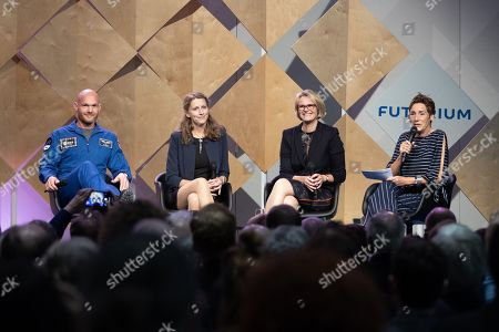 (L-R) Astronaut Alexander Gerst, Sea Ice physicist Stefanie Arndt, Minister of Education and Research Anja Karliczek and Angela Elis talk during the opening ceremony of the Futurium museum in Berlin, Germany, 05 September 2019. The Futurium is a project initiative of scientific institutions and networks of several business enterprises and foundations as well as the German Federal Government. At the same time, it is the name of a museum in Berlin, which serves as a place for presentation and dialogue on science, research and development.