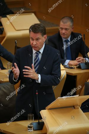 Stock Picture of Avoiding a No-deal Exit from the EU debate at The Scottish Parliament - Jamie Greene, Murdo Fraser and Liam Kerr