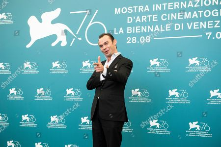 Robinson Stevenin poses for photographers at the photo call for the film 'Gloria Mundi' at the 76th edition of the Venice Film Festival in Venice, Italy