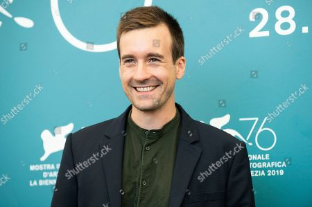 Gregoire Leprince-Ringuet poses for photographers at the photo call for the film 'Gloria Mundi' at the 76th edition of the Venice Film Festival in Venice, Italy