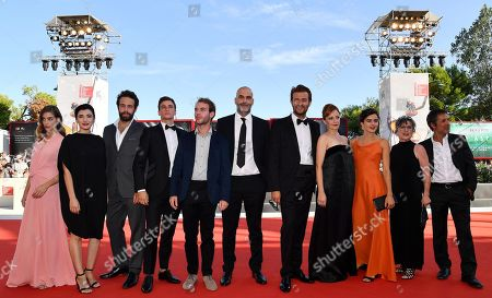 Victoria Guerra, Ana Vilela da Costa, Joao Vicente, Rodrigo Tomas, Joao Pedro Mamede, Portuguese director Tiago Guedes, Portuguese actors Albano Jeronimo, Sandra Faleiro, Beatriz Bras, Teresa Madruga and Miguel Borges arrive for the premiere of 'A Herdade' during the 76th annual Venice International Film Festival, in Venice, Italy, 05 September 2019. The movie is presented in the official competition 'Venezia 76' at the festival running from 28 August to 07 September.