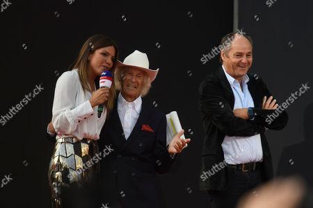 Motorsports: Ferrari 90th Anniversary Festival,  Arturo Merzario, Gerhard Berger