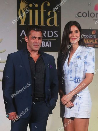 Salman Khan, Katrina Kaif. Bollywood actors Salman Khan, left, and Katrina Kaif attend a press conference to announce the dates and venue for International Indian Film Academy (IFFA) awards 2019 in Mumbai, India, . The 20th IFFA awards ceremony will be held in Mumbai on Sept. 18