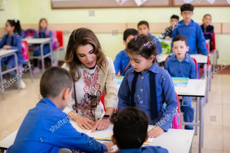 Queen Rania Visits Back-to-School Health Fair and Women's Association in Al Dulayl, Zarqa
