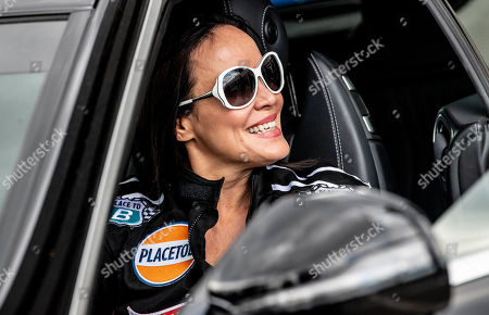 Stock Image of Austrian actress Sonja Kirchberger poses during the 'Place to B Racing for Charity' event at the Porsche Leipzig circuit in Leipzig Germany, 05 September 2019.