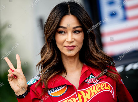 German businesswoman Verona Pooth poses during the 'Place to B Racing for Charity' event at the Porsche Leipzig circuit in Leipzig Germany, 05 September 2019.