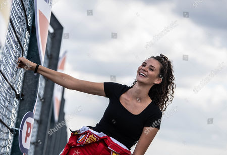 Stock Photo of German model Betty Taube poses during the 'Place to B Racing for Charity' event at the Porsche Leipzig circuit in Leipzig Germany, 05 September 2019.