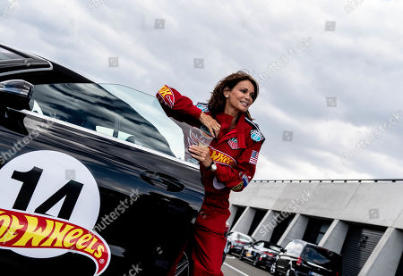 German actress Gerit Kling poses during the 'Place to B Racing for Charity' event at the Porsche Leipzig circuit in Leipzig Germany, 05 September 2019.