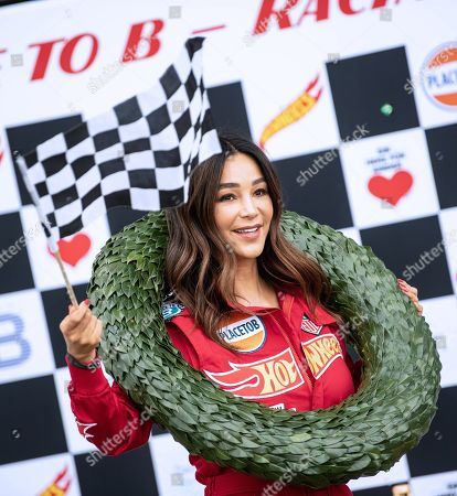 German businesswoman Verona Pooth attends the 'Place to B Racing for Charity' event at the Porsche Leipzig circuit in Leipzig Germany, 05 September 2019.