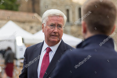 Sir Michael Fallon, Conservative MP, on College Green at Westminister