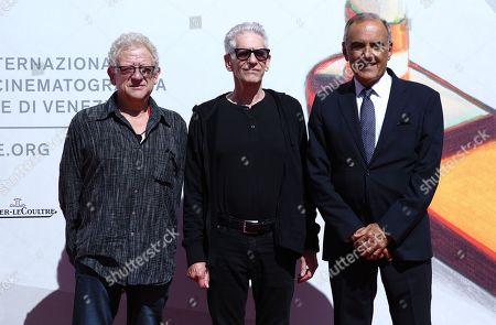 Jeremy Thomas, David Cronenberg and Alberto Barbera