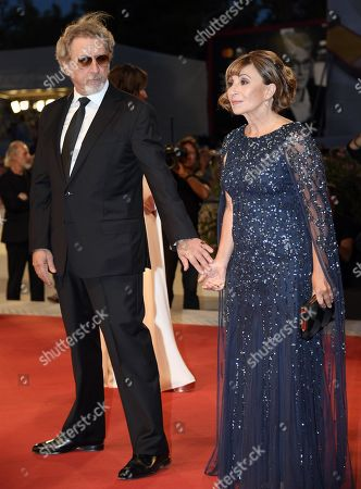 Robert Guediguian (L) and French actress Ariane Ascaride arrive for the premiere of 'Gloria Mundi' during the 76th annual Venice International Film Festival, in Venice, Italy, 05 September 2019. The movie is presented in the official competition 'Venezia 76' at the festival running from 28 August to 07 September.