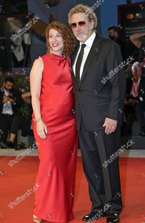 Robert Guediguian (R) and French actress Lola Naymark arrives for the premiere of 'Gloria Mundi' during the 76th annual Venice International Film Festival, in Venice, Italy, 05 September 2019. The movie is presented in the official competition 'Venezia 76' at the festival running from 28 August to 07 September.