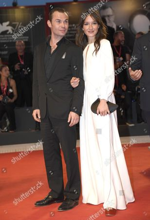 Anais Demoustier (R) and French actor Robinson Stevenin arrive for the premiere of 'Gloria Mundi' during the 76th annual Venice International Film Festival, in Venice, Italy, 05 September 2019. The movie is presented in the official competition 'Venezia 76' at the festival running from 28 August to 07 September.