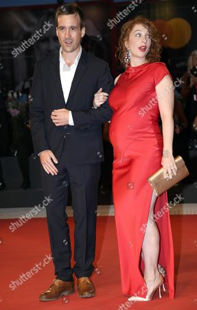 French actress Lola Naymark (R) and French actor Gregoire Leprince-Ringuet arrive for the premiere of 'Gloria Mundi' during the 76th annual Venice International Film Festival, in Venice, Italy, 05 September 2019. The movie is presented in the official competition 'Venezia 76' at the festival running from 28 August to 07 September.