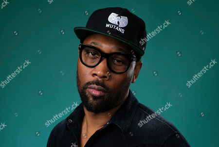 "RZA, an executive producer of the Hulu miniseries ""Wu-Tang: An American Saga,"" poses for a portrait during the 2019 Television Critics Association Summer Press Tour at the Beverly Hilton in Beverly Hills, Calif"