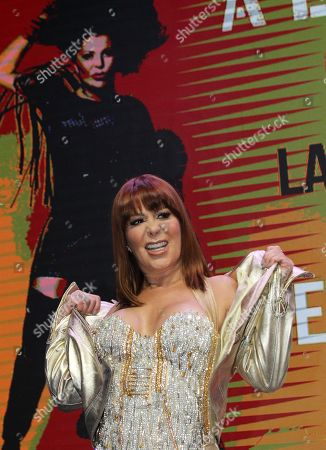 Alejandra Guzman, poses before a press conference where she announced her new record production 'Live At The Roxy' in Mexico City, Mexico, 05 September 2019.