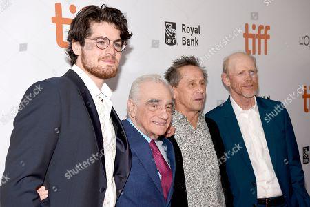 Daniel Roher, Martin Scorsese, Brian Grazer and Ron Howard