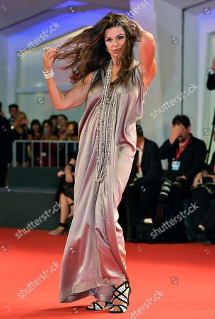 Alba Parietti arrives for the premiere of 'ZeroZeroZero' during the 76th annual Venice International Film Festival, in Venice, Italy, 05 September 2019. The series is presented out of competition at the festival running from 28 August to 07 September.