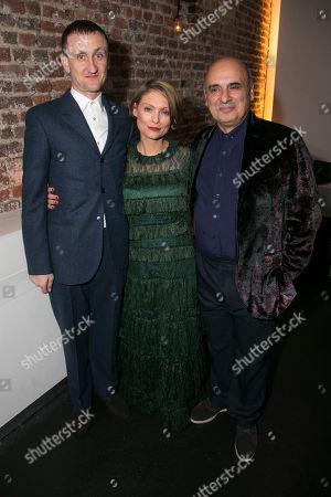 Tom Brooke (Alexander Litvinenko), MyAnna Buring (Marina Litvinenko) and Peter Polycarpou (Boris Bereszovsky)