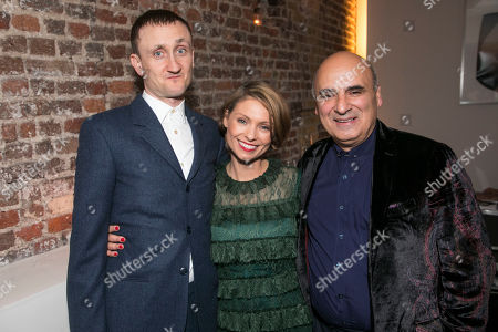 Stock Photo of Tom Brooke (Alexander Litvinenko), MyAnna Buring (Marina Litvinenko) and Peter Polycarpou (Boris Bereszovsky)