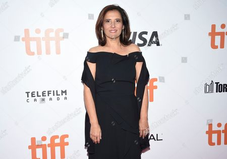 """Stock Image of Joana Vicente, executive director of the Toronto International Film Festival, attends the premiere for """"Once Were Brothers: Robbie Robertson and The Band"""" on day one of TIFF at the Roy Thomson Hall, in Toronto"""