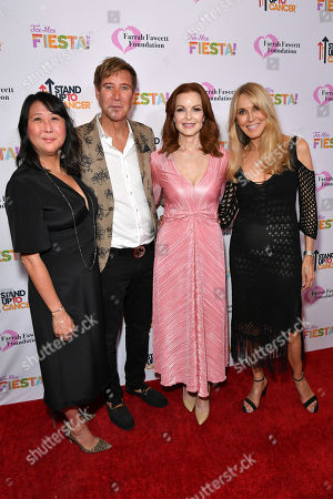 Sung Poblete, Dr. Lawrence Piro, Marcia Cross and Alana Stewart