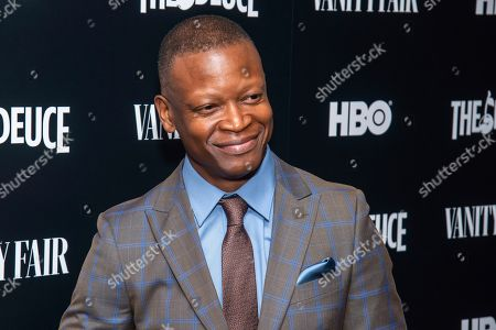 "Lawrence Gilliard, Jr. attends the premiere of HBO's ""The Deuce"" third and final season at Metrograph, in New York"