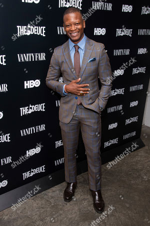 """Lawrence Gilliard, Jr. attends the premiere of HBO's """"The Deuce"""" third and final season at Metrograph, in New York"""