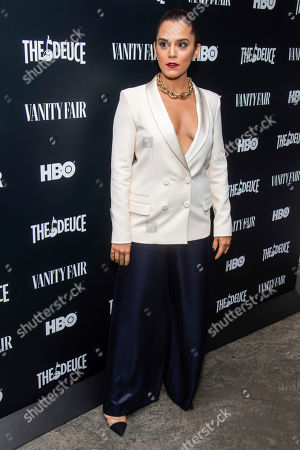 """Sepideh Moafi attends the premiere of HBO's """"The Deuce"""" third and final season at Metrograph, in New York"""
