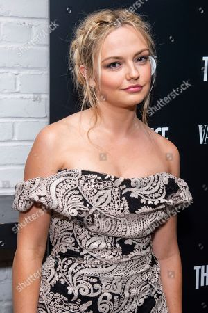 """Emily Meade attends the premiere of HBO's """"The Deuce"""" third and final season at Metrograph, in New York"""