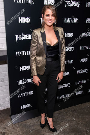 """Olivia Luccardi attends the premiere of HBO's """"The Deuce"""" third and final season at Metrograph, in New York"""