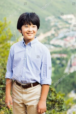 Stock Image of This Aug. 20, 2019, photo provided by the Imperial Household Agency of Japan shows Prince Hisahito, the son of Crown Prince Akishino and Crown Princess Kiko, in suburb of Thimphu, Bhutan. Prince Hisahito turned 13 years old on