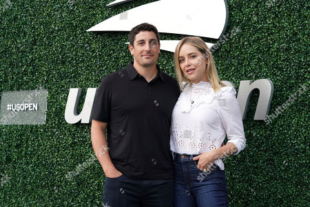 Jason Biggs, Jenny Mollen. Jason Biggs and Jenny Mollen attend the semifinals of the U.S. Open tennis championships, in New York