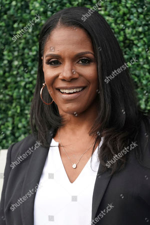 Audra McDonald attends the semifinals of the U.S. Open tennis championships, in New York