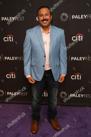"Stock Picture of Rizwan Manji attends the NBC Presentation of ""Perfect Harmony"" at the 2019 PaleyFest Fall TV Previews at The Paley Center for Media, in Beverly Hills, Calif"