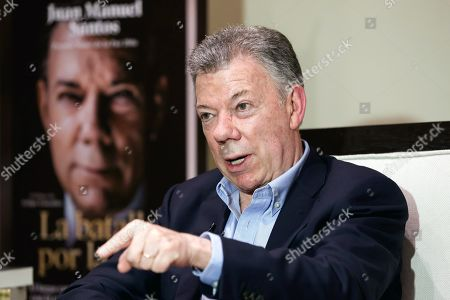The former Colombian president Juan Manuel Santos speaks to the media in Mexico City, Mexico, 05 September 2019. According to media reports, the Nobel Peace Prize recipient of 2016, Juan Manuel Santos called Ivan Marquez and Jesus Santrich, two of the three leaders of the FARC group who announced last week their return to arms, are traitors to the peace process and did so for personal reasons or for profit.
