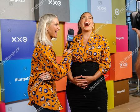 Zanna Roberts Rassi, left, and Ashley Graham attend Target's 20th Anniversary Collection launch event at The Park Avenue Armory, in New York