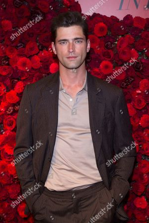 Sean O'Pry attends Victoria's Secret new fragrance launch party at The Times Square Edition Hotel, in New York