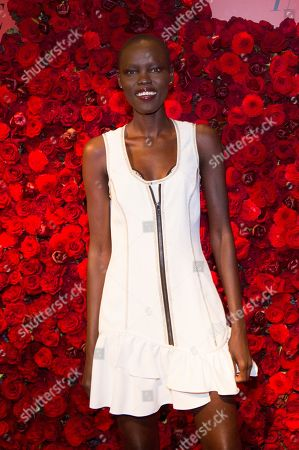 Grace Bol attends Victoria's Secret new fragrance launch party at The Times Square Edition Hotel, in New York