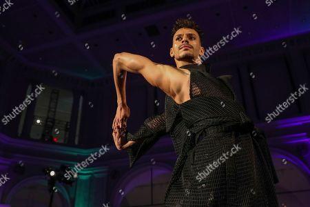Dapper Q show Runway New York Fashion Stock Photos