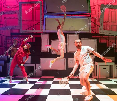 Stock Picture of Joel Montague as Mendel, Laura Pitt-Pulford as Trina, Oliver Savile as Whizzer, Daniel Boys as Marvin