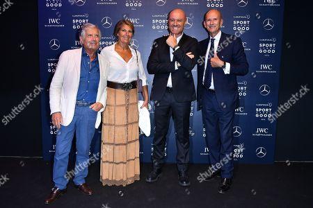 Giacomo Agostini, Maria Agostini, Rudy Zerbi, Beppe Ambrosini